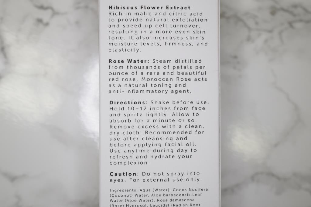 Herbivore Rose Hibiscus Coconut Water mist