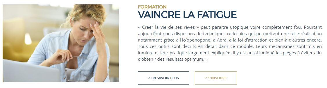 Formation - Dr Luc Bodin - Vaincre la fatigue