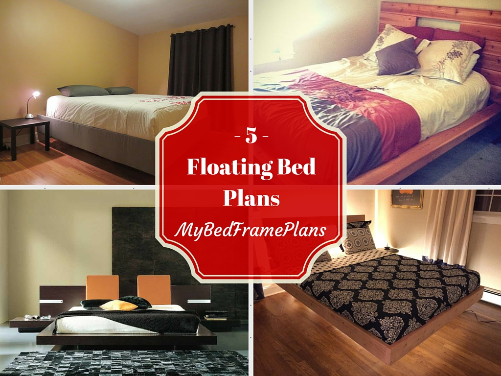 5 Floating bed frame plans