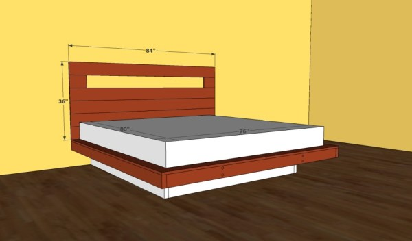 Floating bed plans
