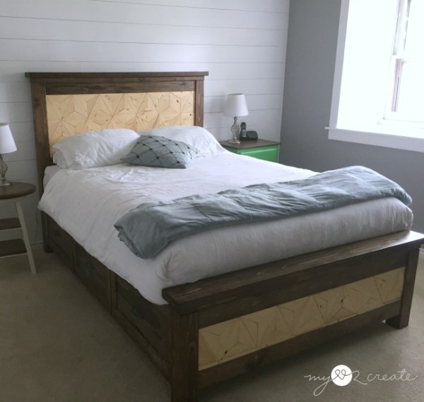 Farmhouse storage bed left side, MyLove2Create