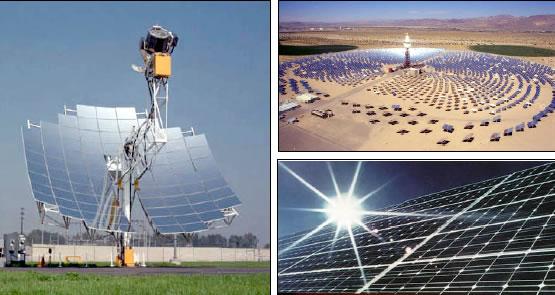 Formas de Solar Energia: Stirlings Engine - CSP Tower e Fotovoltaícos Paineis