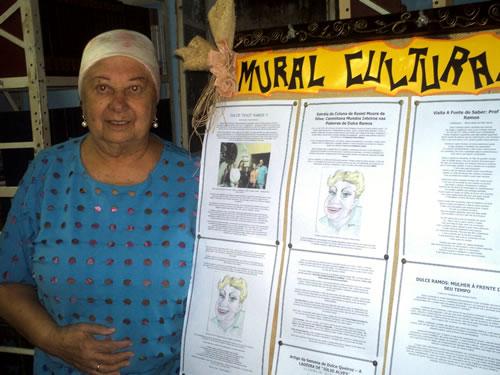 Prof. Dulce Ramos e Seu Mural Cultural