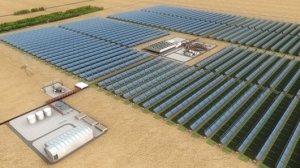 Usina Solar no Deserto (Clique para Aumentar)