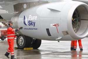 Turbina de Jato da Lufthansa Abastecido com Bioquerosene