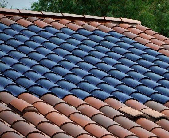 Telhas Solares - Este  Telhado não Tem Painéis Solares, Ele Tem Telhas Solares (Fonte: TribuneSolar)