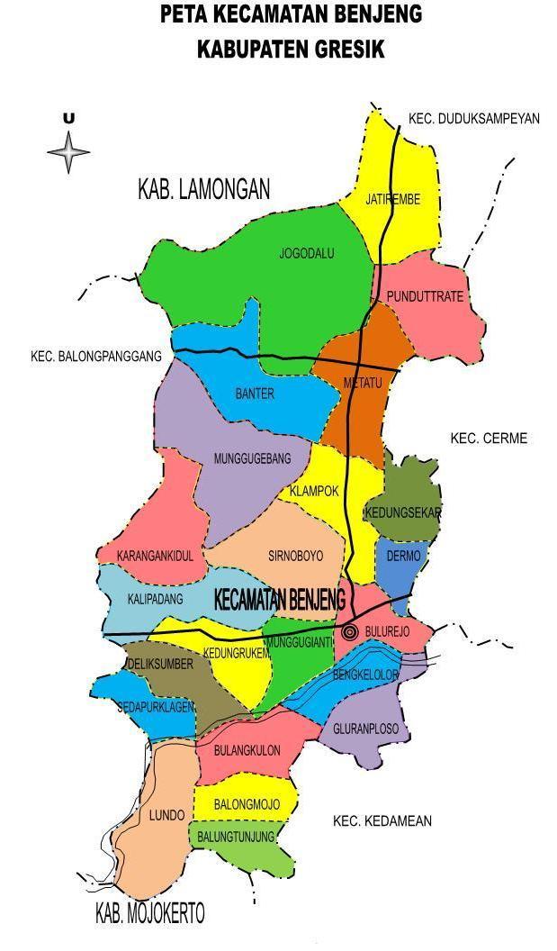 Nama Desa dan Dusun se-Kecamatan Benjeng | Gresik, welcome ...
