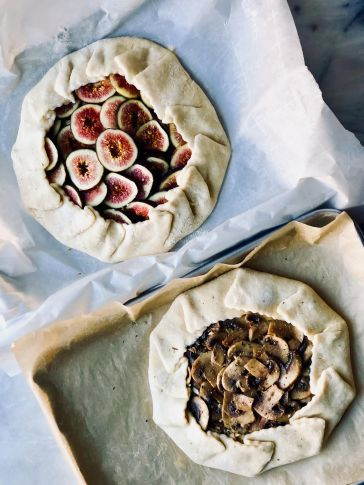 Bebe's Fig and Mushroom Galettes, Pre-Bake. Photo by: Bebe Black Carminito