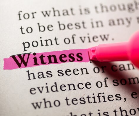 You Are Called To Be A Witness Of God