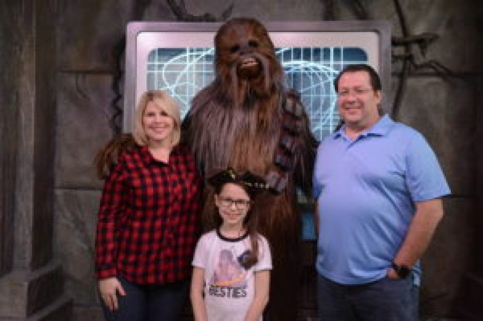 Family Picture With Chewbacca