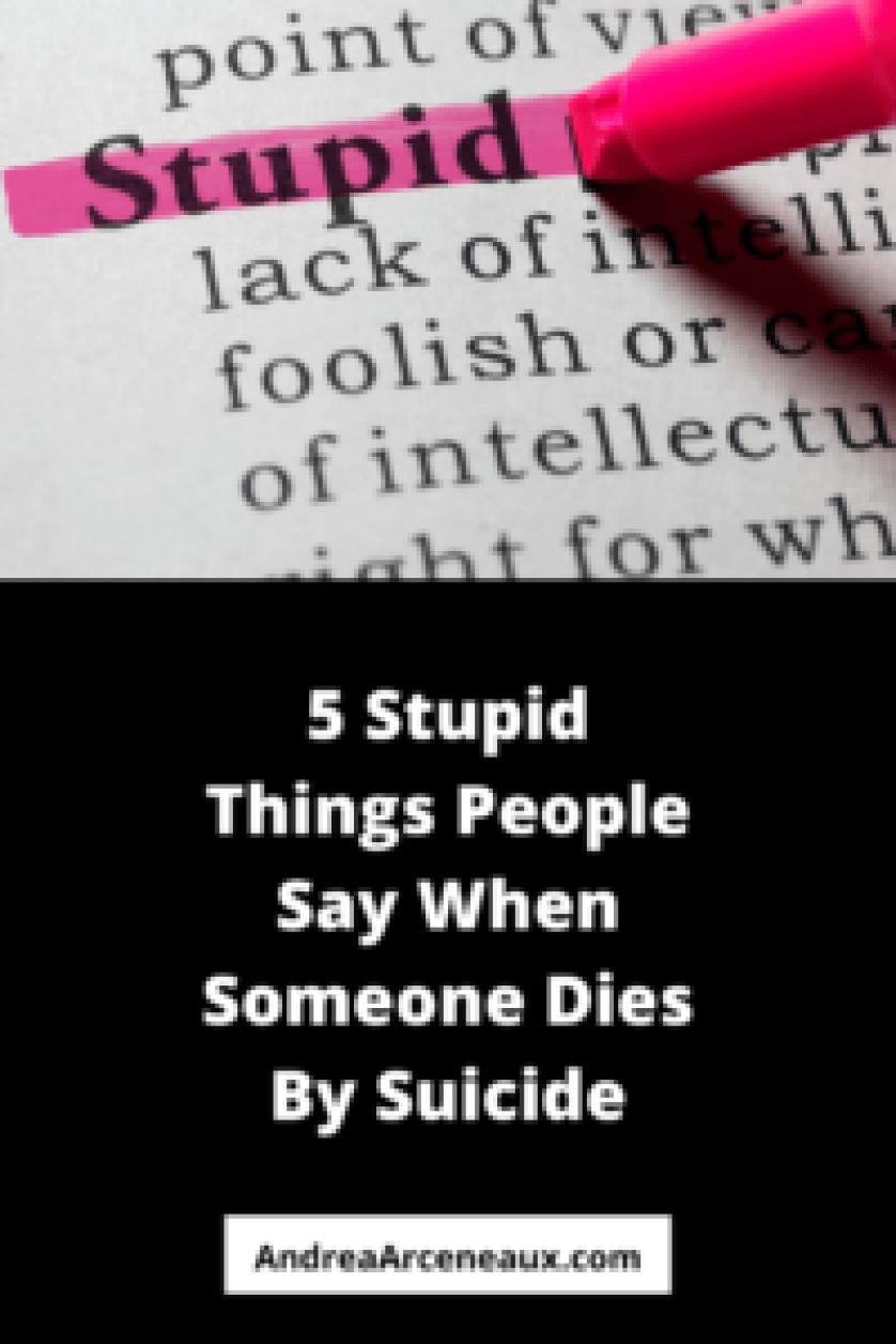 suicide stupid