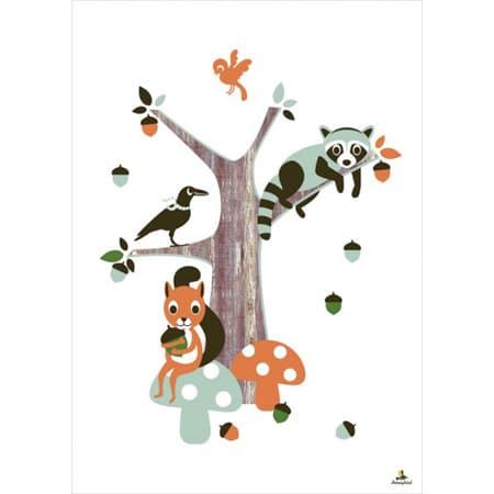 miss honeybird poster bambini