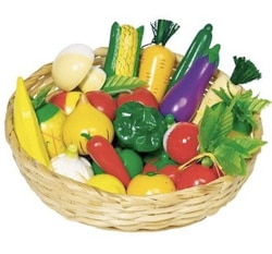 frutta e verdura in legno giocattolo