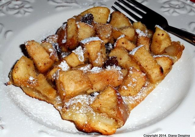 Tarta cu mere, stafide si mirodenii
