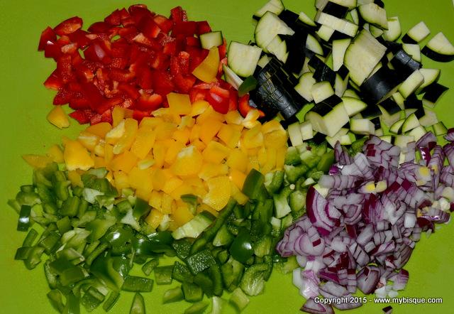 Salata aperitiv de cuscus cu legume sotate