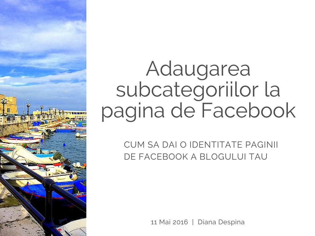 1-Pagina de FB si subcategoriile