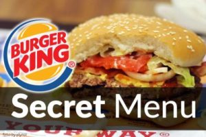 Burger King Secret Menu