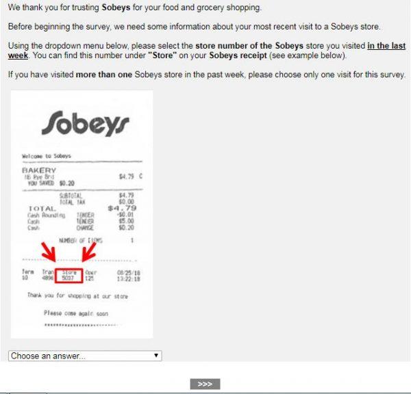 www.Sobeys.com/mysobeys - Win $500 - Take Customer Survey