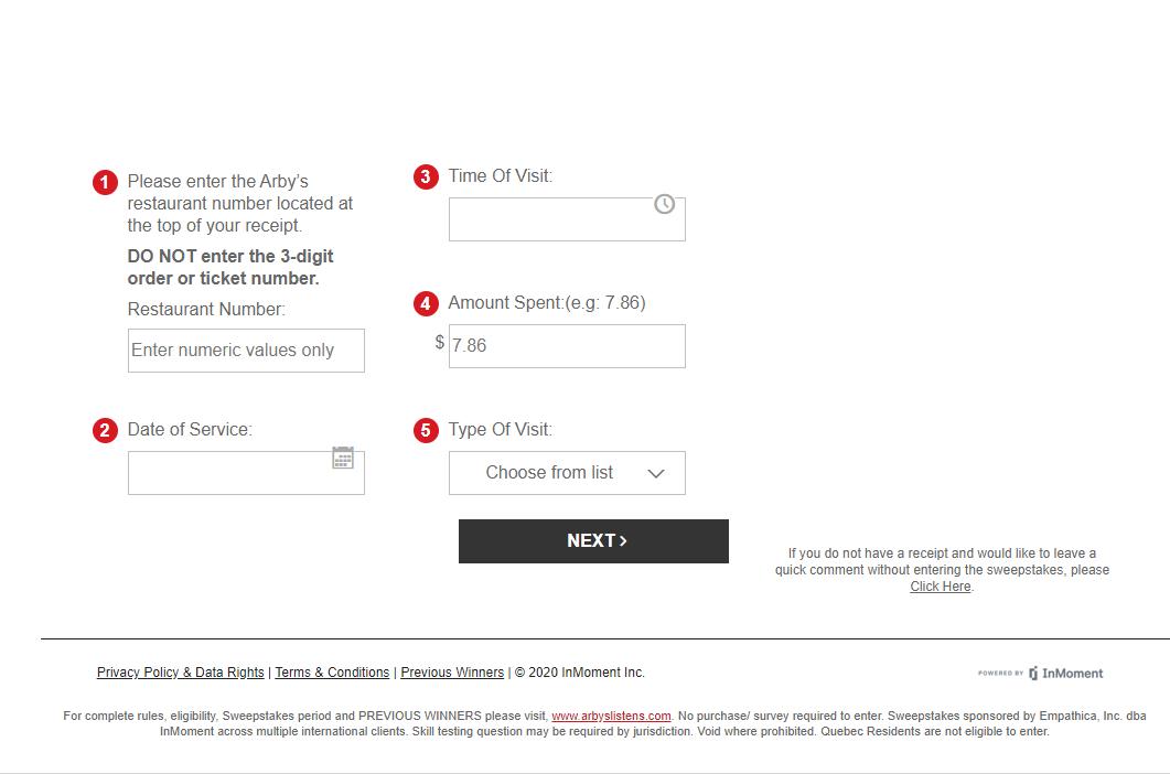 www.Arbys.com/Survey - Win $1000 - Arby's Satisfaction Survey