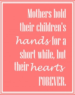 mothers forever printable