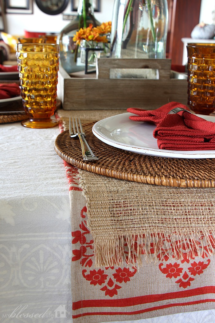 Red Table Runners Walmart