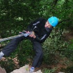 Happy on the abseil