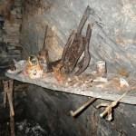 A few artefacts in Cwmorthin Slate Mine