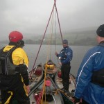 Setting up a four boat sailing rigg