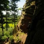 Climbing at Grinshill