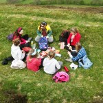 A lovely picnic lunch on Caer Caradoc