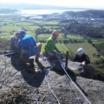 Upper Tier Tremadog - Tope rope systems in action