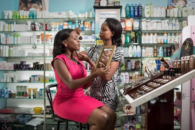 Retail cosmetics shop