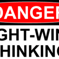 Danger! Right-wing thinking sign