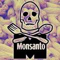 Monsanto death corn logo