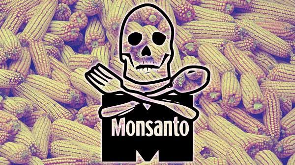 Monsanto death corn logo