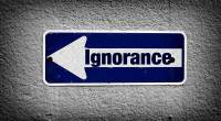 Sign pointing toward ignorance