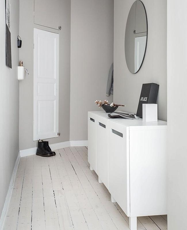 Une Deco En Gris Et Blanc Dans Le Couloir My Blog Deco
