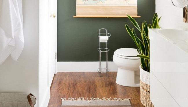 du vert kaki pour decorer les toilettes