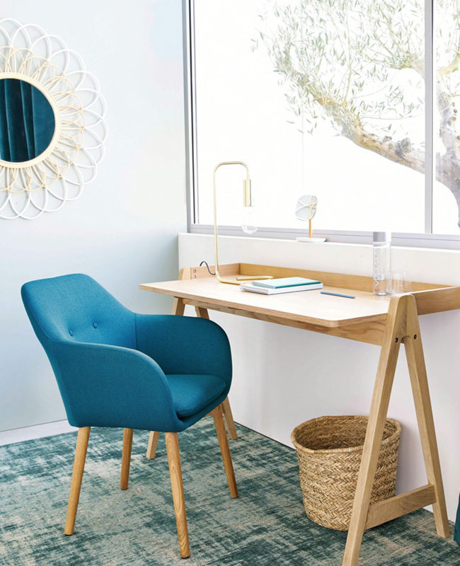 fauteuil bleu canard 7 modeles