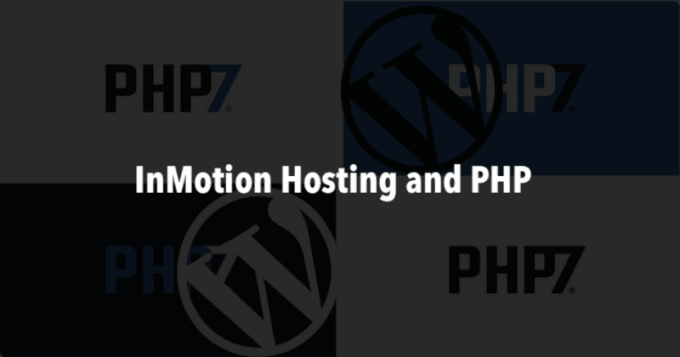 InMotion Hosting and PHP