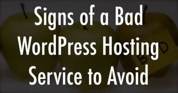 Signs of a Bad WordPress Hosting Service