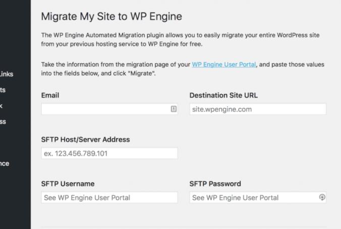WP Engine migration plugin