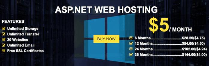 ASP.NET hosting prices