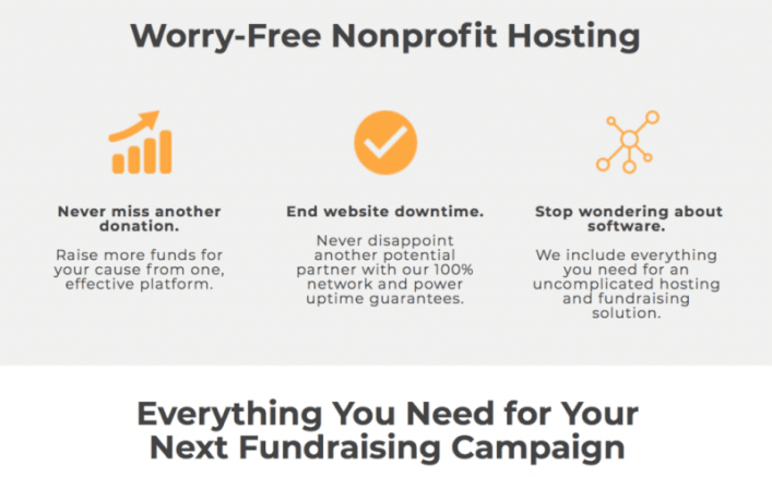 Worry free Nonprofit hosting