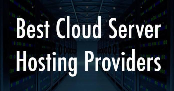 Best cloud server hosting providers