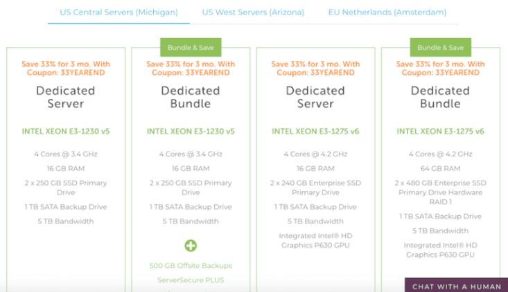 Top 10 dedicated server hosting