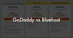 GoDaddy or Bluehost