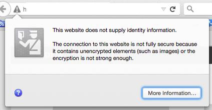 error message on Firefox