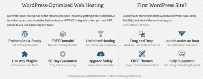 Cheap WordPress hosting features