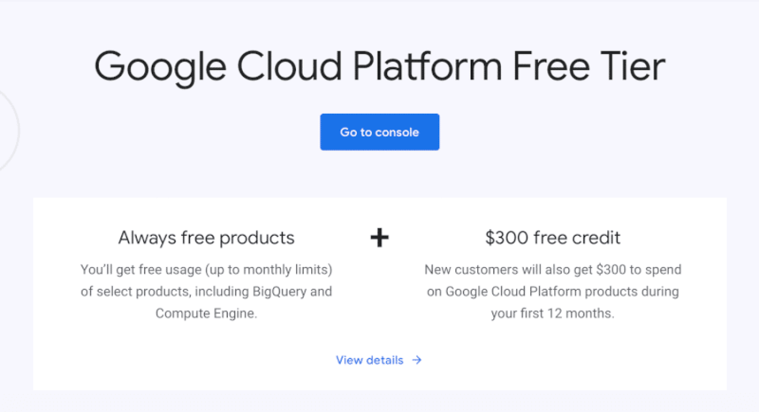 Google Cloud Platform Free Tier
